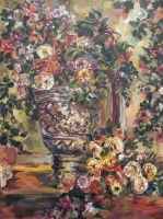 Classical vase painting by Cassiuseos