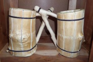 Wooden Tankards by Flyntendo