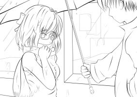 In the Rain Lineart -v0.95- by booster3000