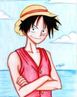 Drawing of Monkey D. Luffy -  One piece by GuillermoAntil