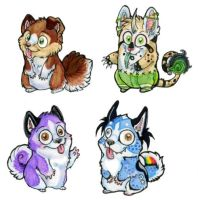 Wetoded hamster baby badges4U by BungleChiv