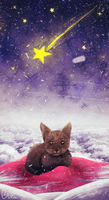 Merry christmas! :D ~ christmas cat by jkz123pl