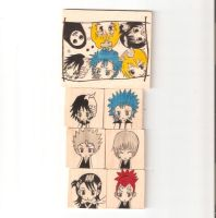 wood magnets of Bleach by jaysanzo