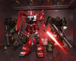 Zaku Red Comet Unit by ssejllenrad2