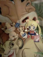 Sega Simbas chilling with Sailor Moon by Heatherannpt