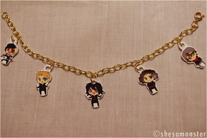 My Chemical Romance charm bracelet by shesamonster