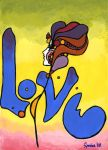 Peter Max Love in Color by SpasiantasticalMan