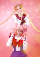Usagi and Chibiusa 1 by Usagi-Tsukino-krv