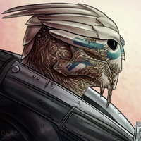 Garrus by Skellagirl