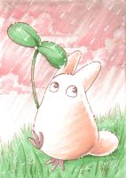 white Tororo-ACEO by Faerytale-Wings