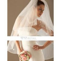 Layer Elbow Wedding Veil by Kangxiao