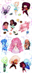 Steven Universe Stickers by ShyCustis
