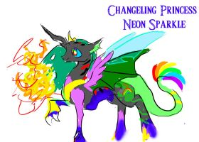 Changeling Princess Neon Sparkle by IceOfWaterflock
