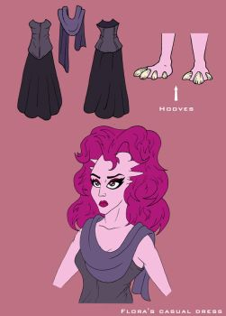 Flora's casual outfit sheet by Feinobi