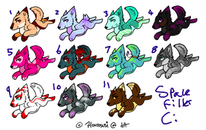 Free Wolf Adoptables (CLOSED) by kittenScientist