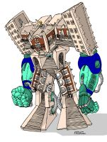 My University is a Giant Robot by thecarlosmal
