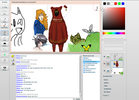 iScribble drawings -4- (Cloth people from JNY) by MeiTakahashi