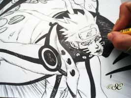 Naruto Kyuubi mode work in progress by Salvo91