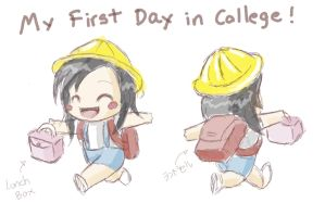 1st day in College by Pumpkin-Candy
