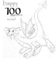 100 Pageviews, yay :-D by elosc