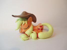 Applejack Hitting the Hay by EarthenPony