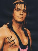 Bret The Hitman Hart Signed by predator-fan