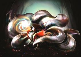 Ahri's true form by Ioruko