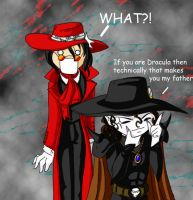 Musing of D and Alucard by jayoku