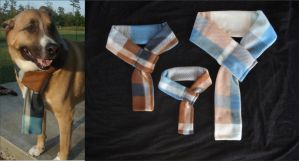 Blue and Brown Plaid Dog Scarf by RebelATS