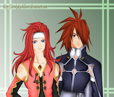 Kratos and Zelos by talesofsymphonia