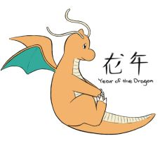 Year of the Dragon - Dragonite by ABCGina