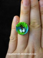 Totoro Summer Acorn Ring by egyptianruin