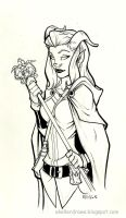 Daily Drawing Zahra by AndrewScottKeller
