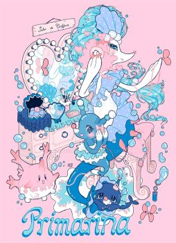 Primarina and her family by hinivaal