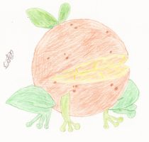Is that a Frog Crossed With an Orange? by CobaltBrony