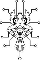 Tech Wolf Tattoo by The-Monstrum
