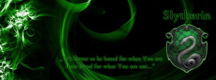 slytherin facebook cover by JuliaWoodrow