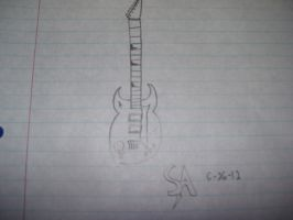 Cartoon Electric Guitar by SonicAmp