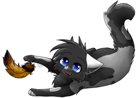 :commish: Feather ish fun, No? by Spottedfire-cat