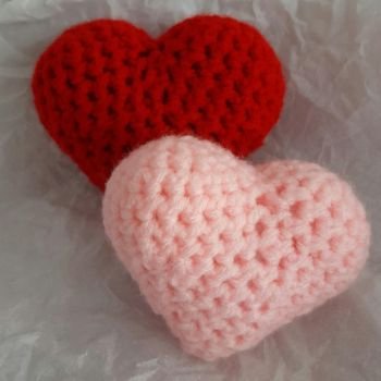 Amigurumi Hearts by PerilousBard