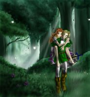 Zelda: The Lost Woods by Adella