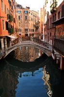 Venice - canal reflections 2 by wildplaces