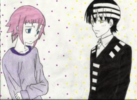 Happy Spirit Day ^^ Kid and Crona by Chabeli05