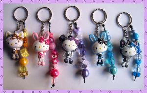 Hello Kitty Keychains 2 by cherryboop