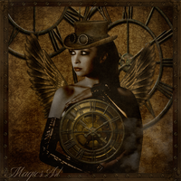 Steampunk angel by magicsart