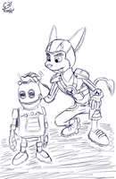 Cleaning - Ratchet and Clank | Sketch'd by G3Drakoheart-Arts