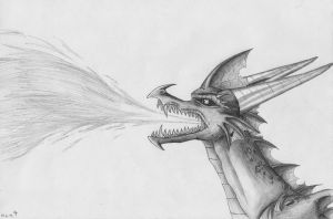 Random Dragon with Long Nose by IcelectricSpyro
