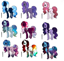 Galaxy Pattern Pony Adopts! (OPEN SUPER CHEAP) by NoodlePastaAdopts
