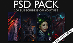 100 Subscribers PSD Pack by aaa13xxx