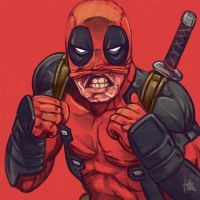 Daily Sketches Deadpool by fedde
